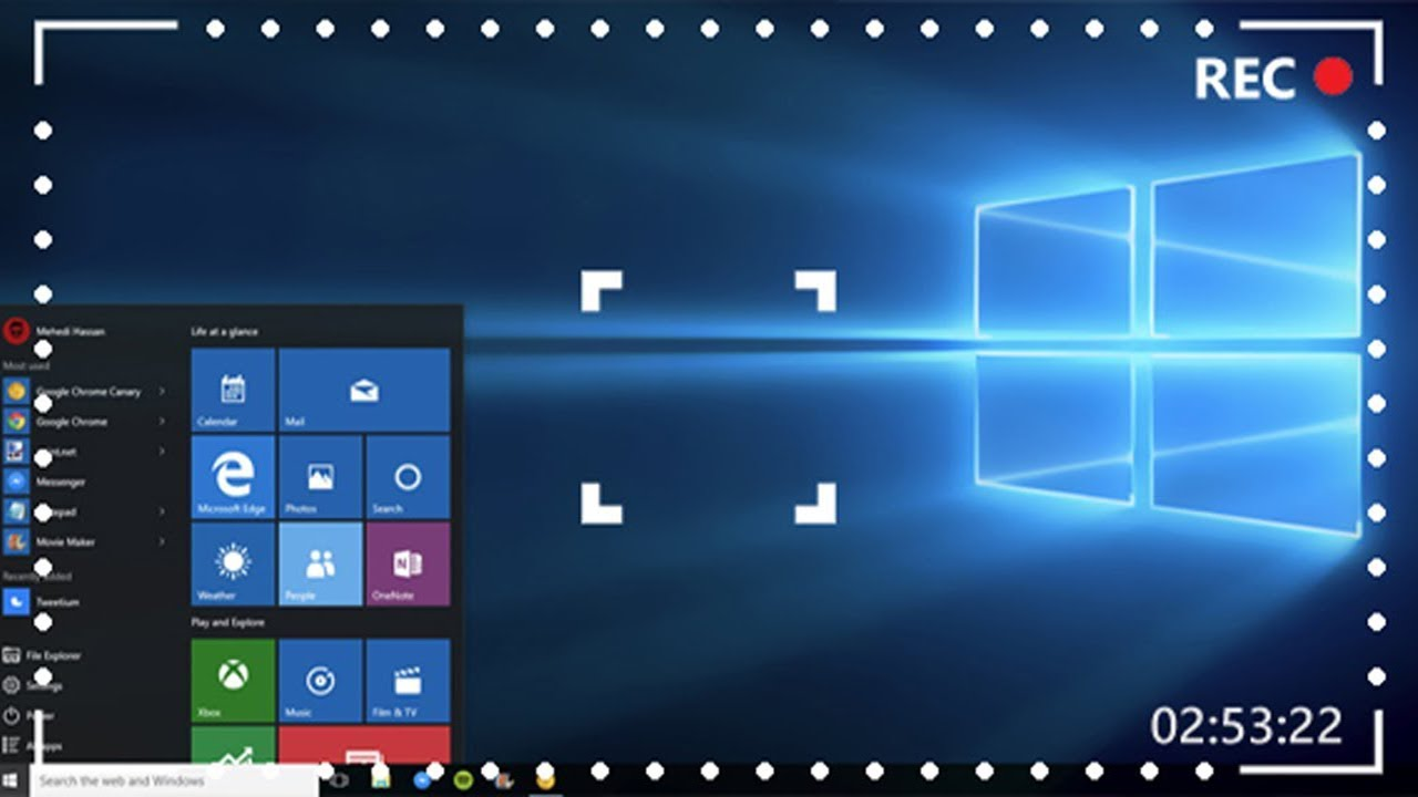 Screen recorder windows 10 with audio free