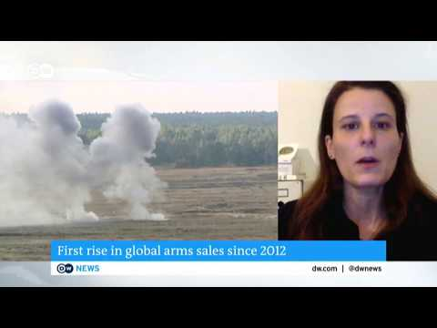 SIPRI Expert Dr Aude Fleurant on Deutsche Welle News - First rise in global arms sales since 2012