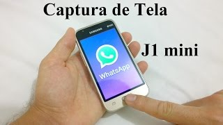 Captura de tela no Galaxy J1 mini - Dica