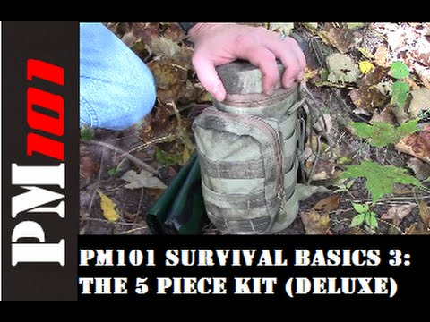 PM101 Survival Basics 3: The 5 Piece Kit (Deluxe)  - Preparedmind101