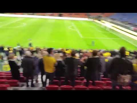 Swedish fans celebrating at San Siro 2017