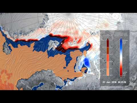 Early 2016 Winter Storm Melts Arctic Sea Ice