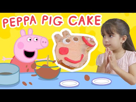 make-with-peppa-pig-|-preparing-a-surprise-cake-for-dad-pig's-birthday-with-peppa-pig