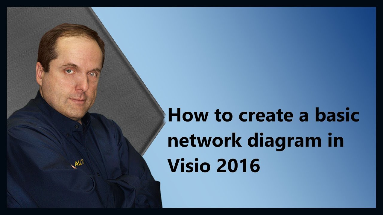 how to create a basic network diagram in visio 2016 youtube. Black Bedroom Furniture Sets. Home Design Ideas