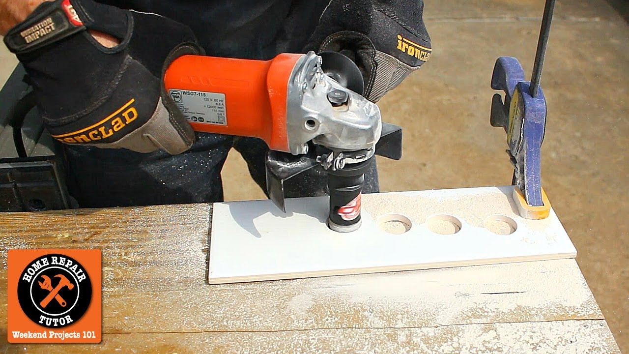 Drill Large Holes In Ceramic Tile 10 Seconds Youtube