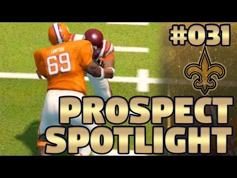 Madden NFL 17 Saints Franchise Ep. 31 | Prospect Spotlight #6: Interior OL (NCAA 14 Footage)