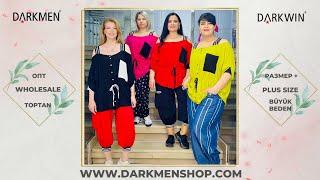 04 06 2021 Часть 2 Показ женской одежды больших размеров DARKWIN от DARKMEN Турция Стамбул Опт