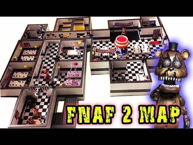 FNAF 2 Complete Mcfarlane Toys Game Map Playset - Five Nights at Freddys 1-4 Sets Freddy Fazbears