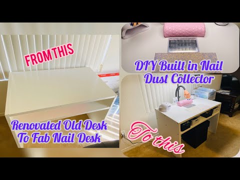 DIY Nail Desk With Built In Dust Collector