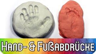 Hand- und Fußabdrücke machen | Bastelidee mit Kindern