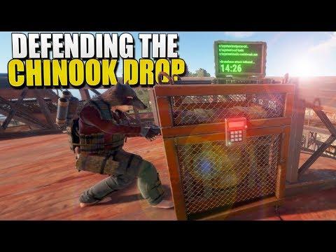 DEFENDING The CHINOOK DROP (Rust Survival) #137