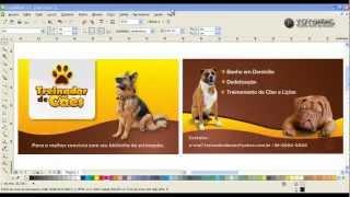 Vídeo aula do Corel Draw - como fazer um cartão de visita, frente e verso ( aula 01 de 02 ( HD )