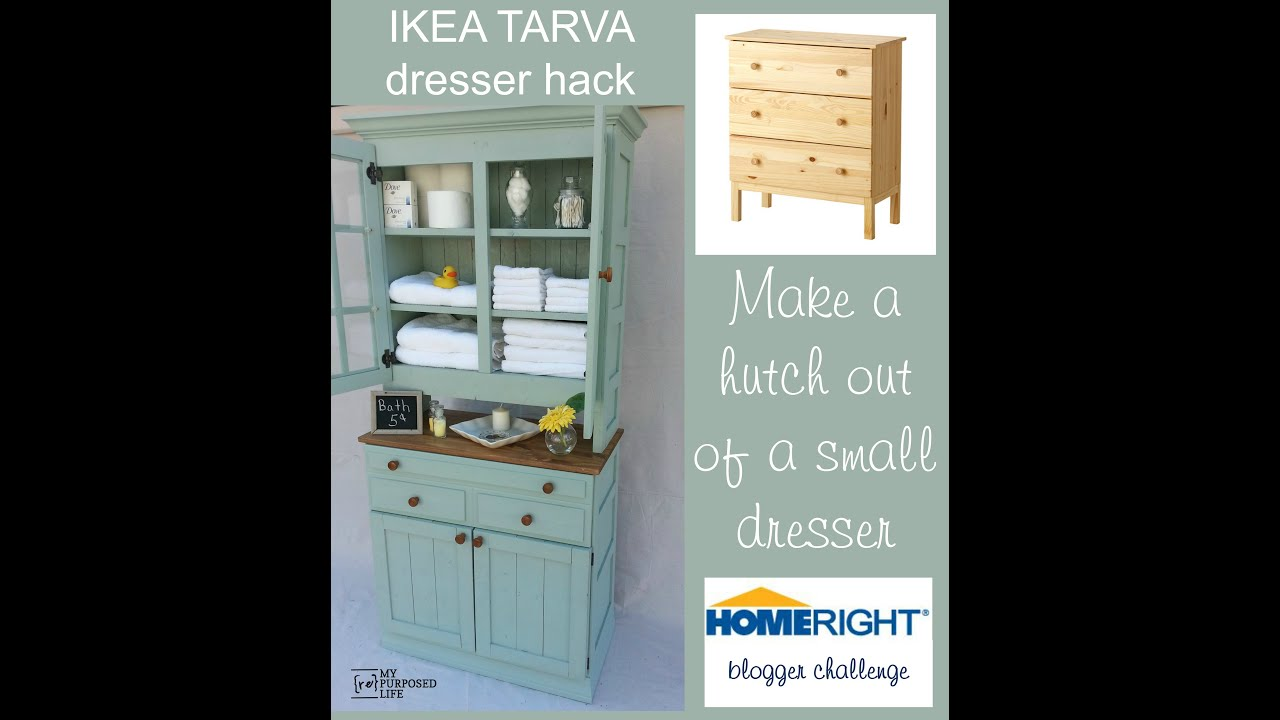 IKEA Tarva dresser hack storage cupboard - YouTube