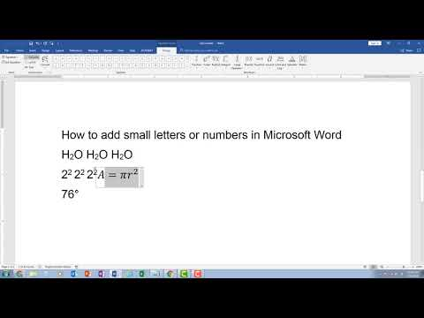 How Do I Get Little Numbers Or Letters In Word--Adding Subscript And Superscript Characters