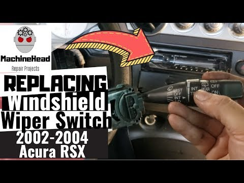 Replacing Windshield Wiper Control Switch 2002-2004 Acura RSX