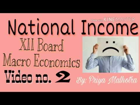 National Income| How to prepare National Income|  Macro Economics Class 12 video no 2