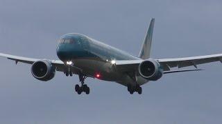 ✈Vietnam Airlines B787 VN-A865/VN-A869 landing @Narita Airport rwy34L(WX970/成田空港)