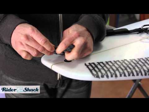 How to attach a surfboard leash