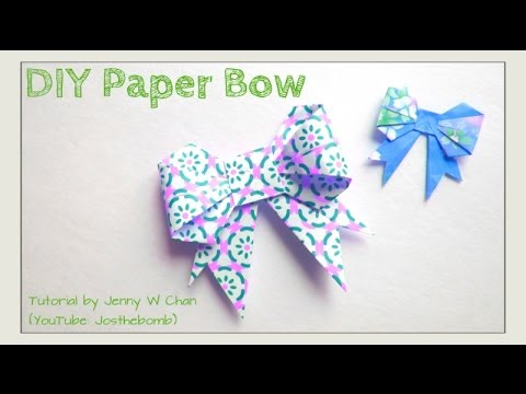 Easter Crafts Paper Bow Origami Bow How To Make A