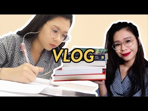 Library Day + Exciting Book Haul | LAW SCHOOL VLOG #29 | caely yo
