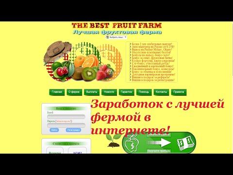 Заработок с лучшей фруктовой фермой 2016!