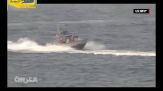 بالفيديو.. زوارق إيرانية بحرية تعترض مدمرة أمريكية