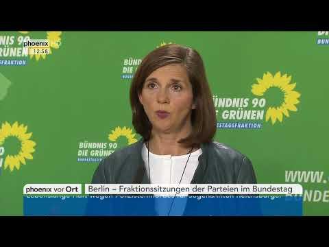 Katrin Göring-Eckardt zur Fraktionssitzung von B'90/Grüne am 23.10.17