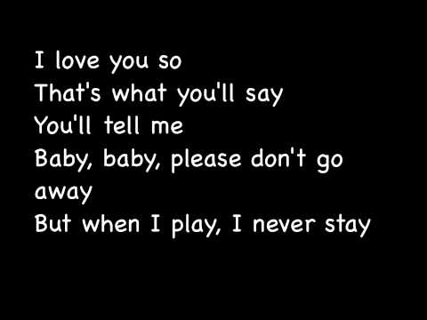 Tell me to stay lyrics