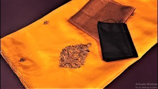 Diwali special new blouse design for silk cotton saree