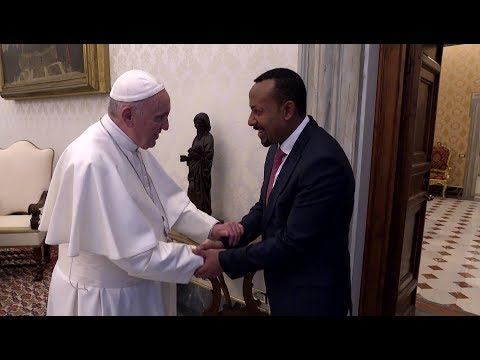 Pope meets with Prime Minister of Ethiopia, Abiy Ahmed