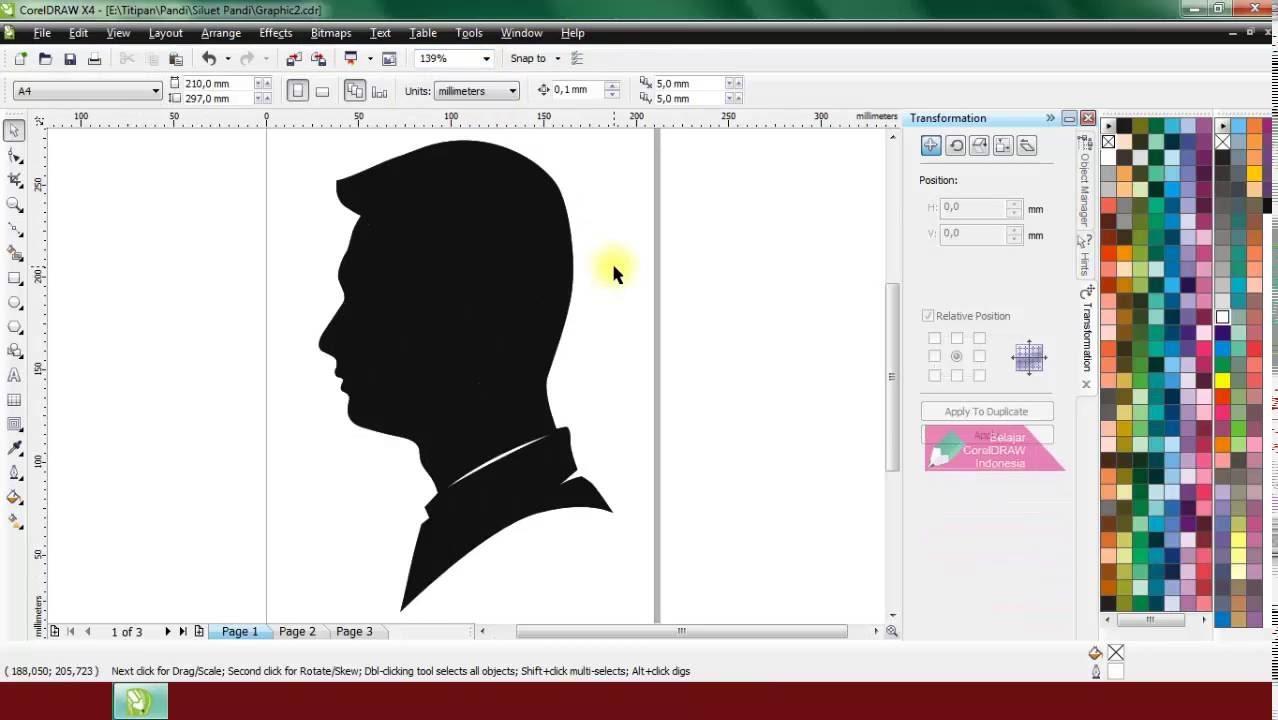 Cara Membuat Foto Siluet Menggunakan Coreldraw Belajar Coreldraw Youtube