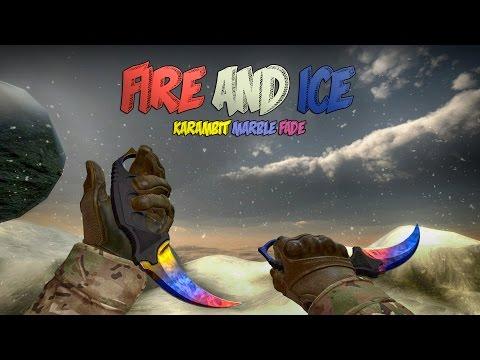 CS:GO Showcase - StatTrak™ Karambit | Marble Fade Fire/Ice by Omni