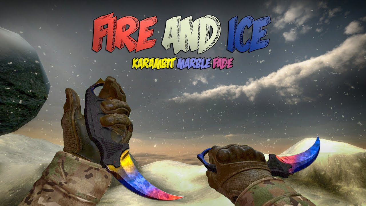 Karambit Marble Fade - Fire and Ice Pattern Showcase