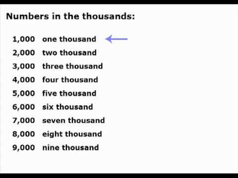 How To Say English Numbers 100 1 Trillion Youtube