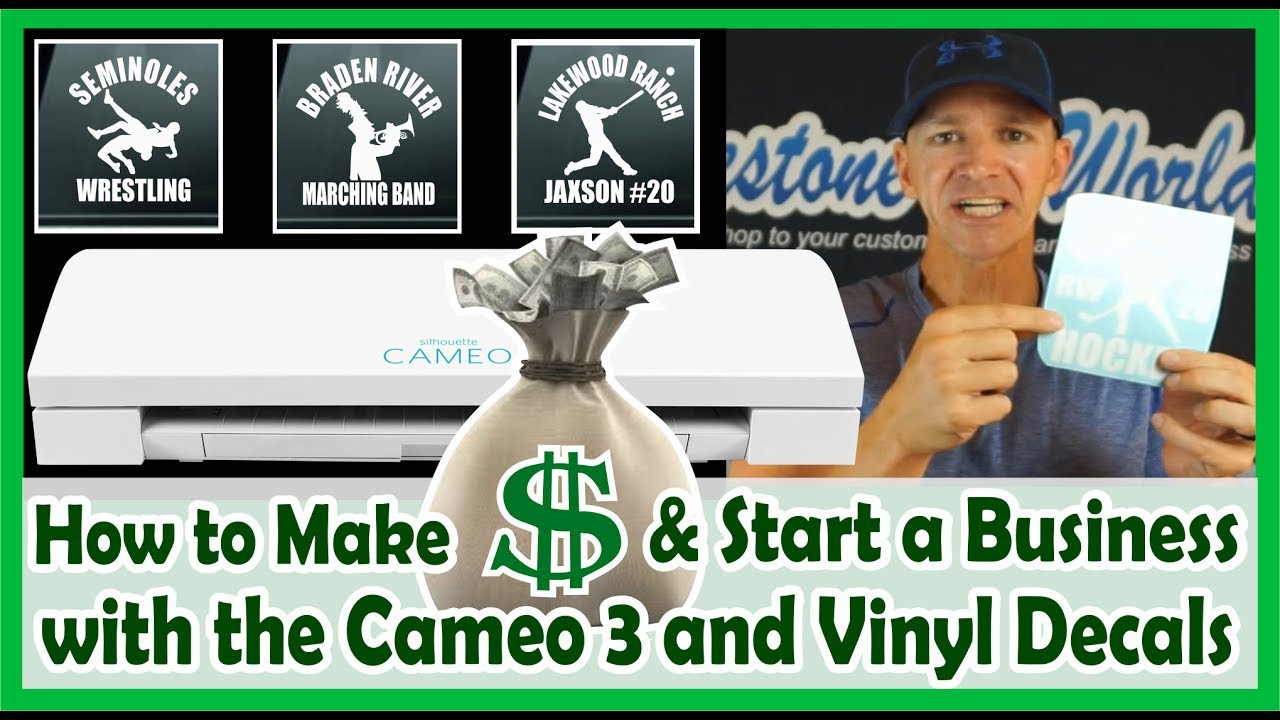 How to Make Money with your Silhouette Cameo 3 and Vinyl Car Decals  Business Class