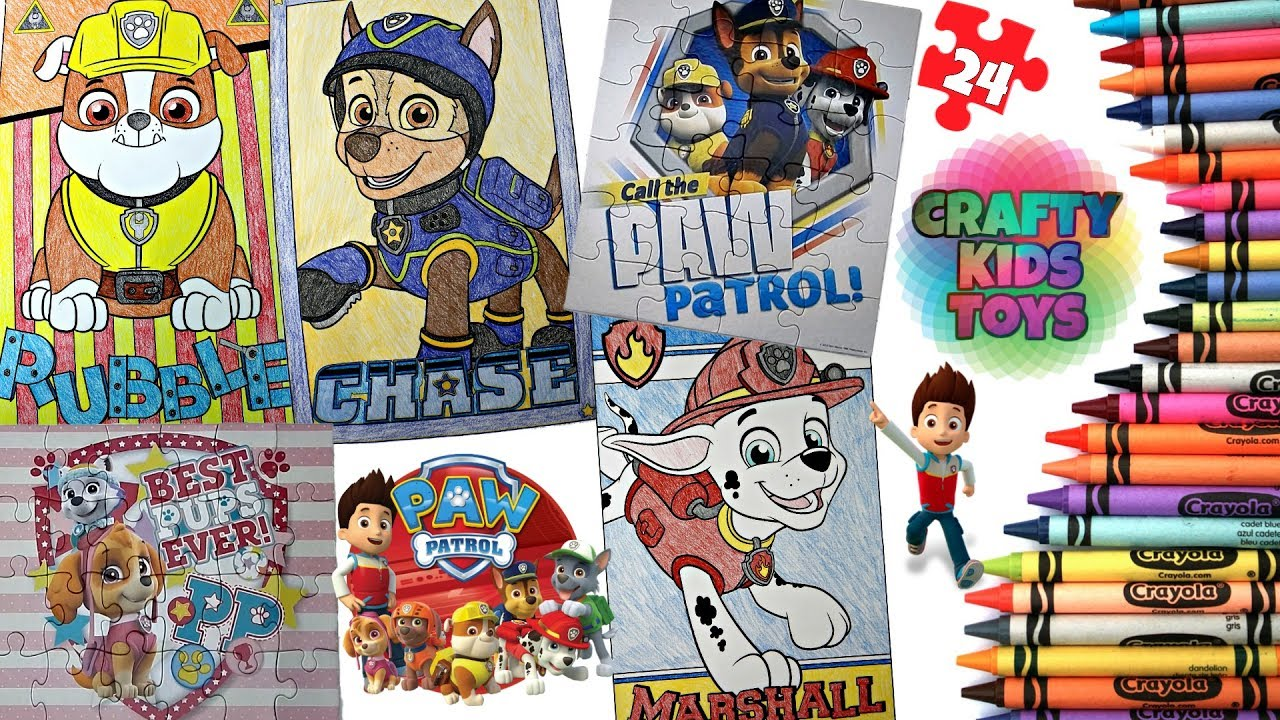 paw patrol crayola giant coloring page 24 piece paw patrol puzzle