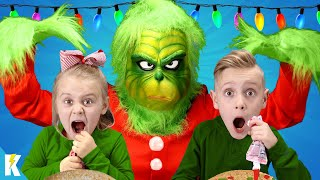 The GRINCH MASTER Strikes Back! Invading our Christmas Cookie Challenge! KIDCITY