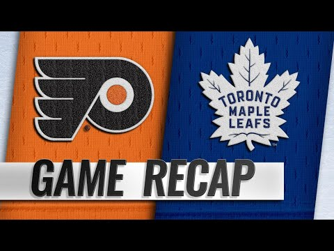 Johnsson's first hat trick powers Leafs past Flyers