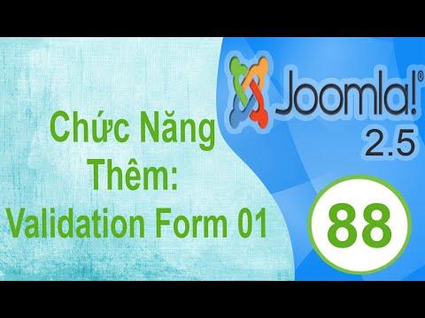 Lập Trình Joomla - Bài 88: Chức Năng Thêm: Validate Form 01