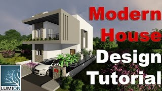 How to design a modern house - Lumion Tutorial#4 - Unity Interiors
