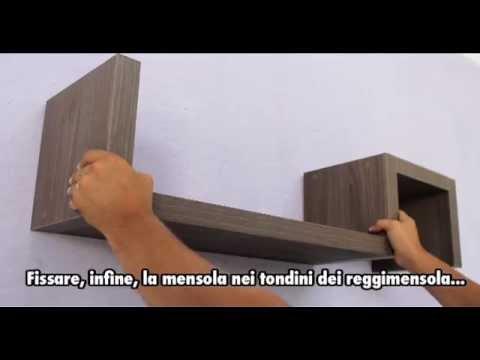 Montaggio Mensole A Muro.Ve Ca Italy Composizione Mensole Ad S Istruzioni Per Il Montaggio