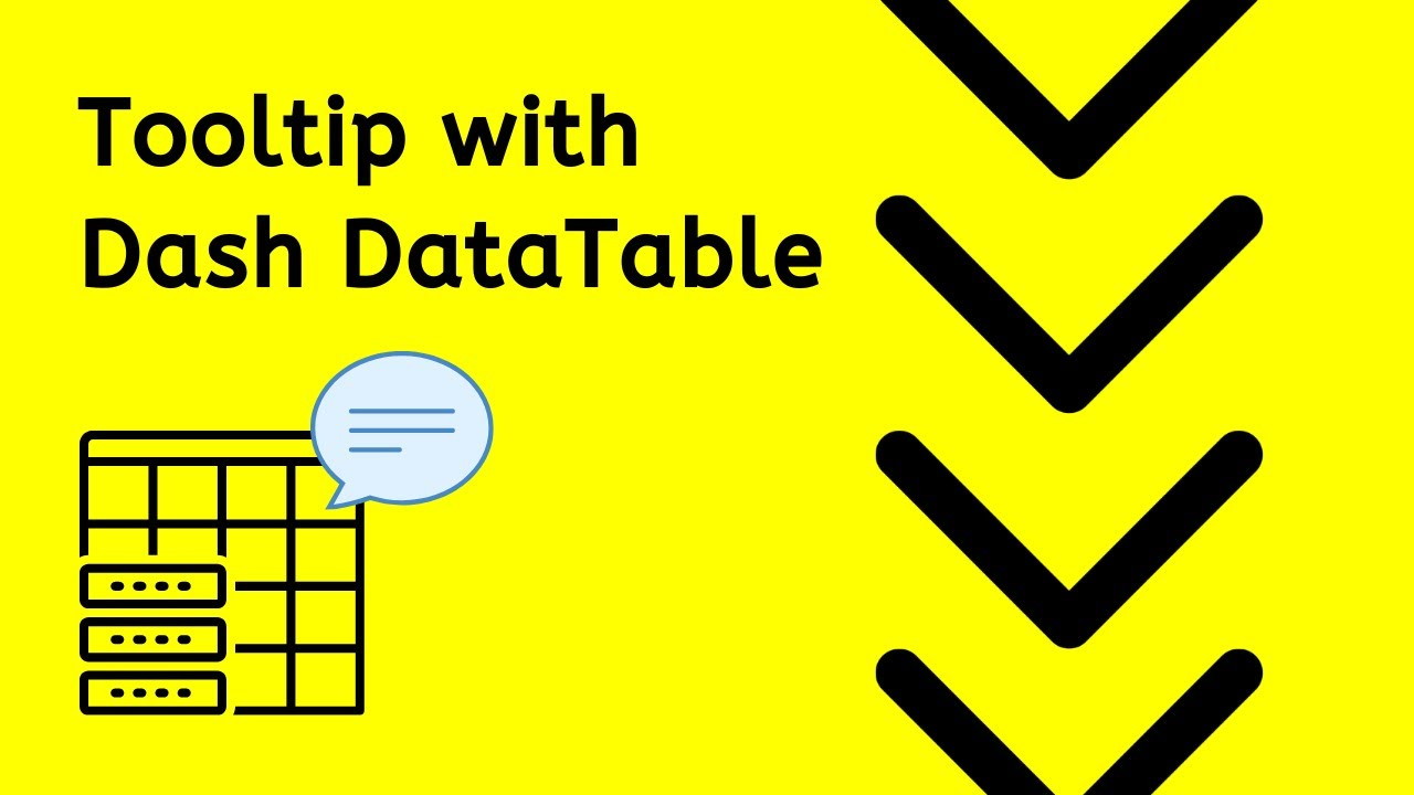 Tooltip - Dash Plotly DataTable