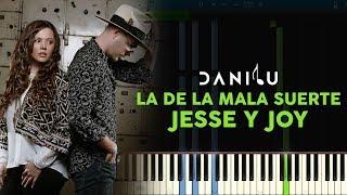 La de la mala suerte - Jesse y Joy - Piano
