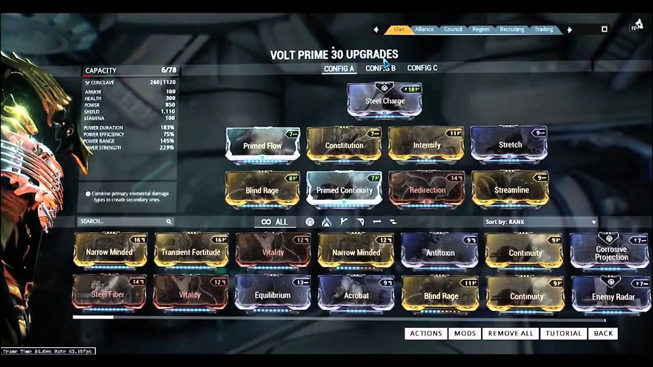 Best Volt Prime Build