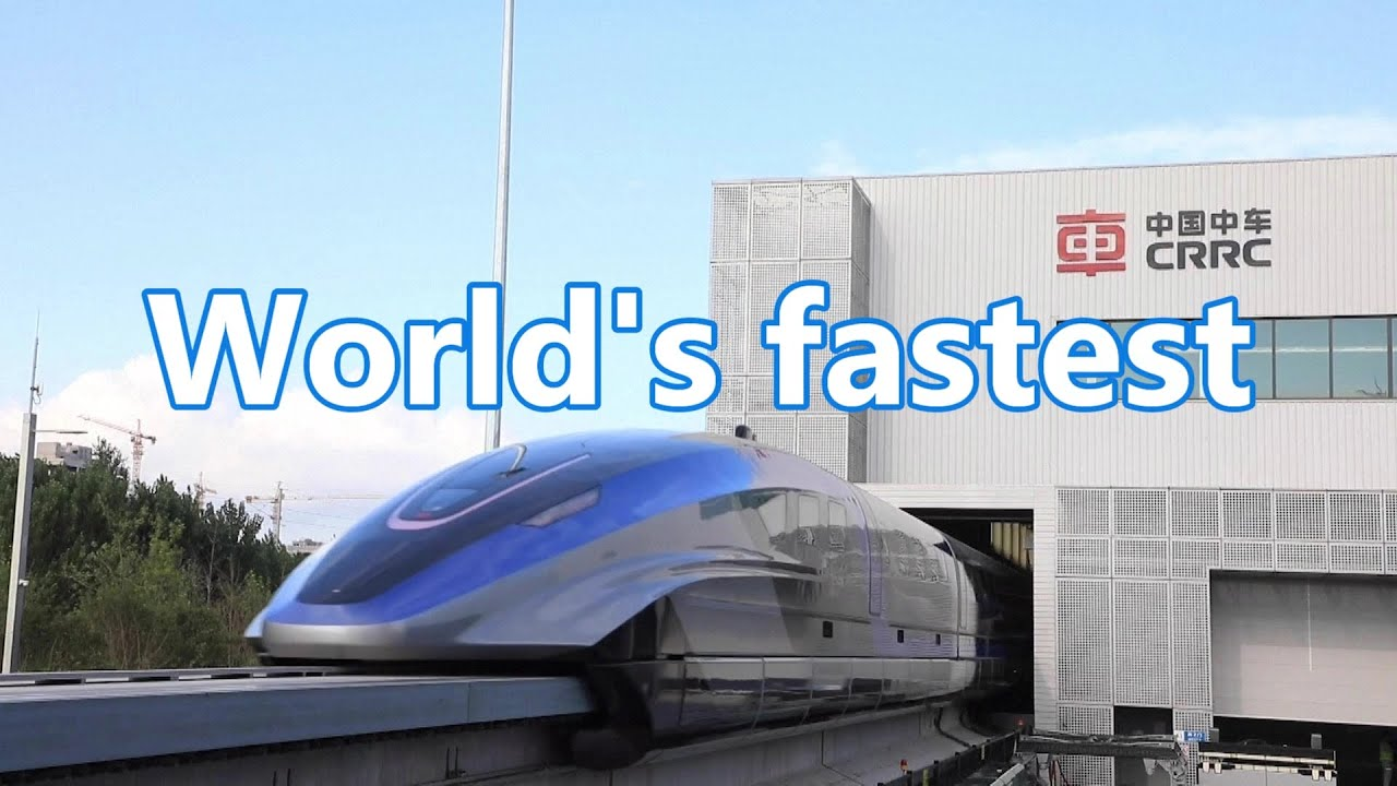 Download The world's fastest (600 km/h) maglev train rolled off the assembly line in China | 世界最快磁懸浮列車在中國下線
