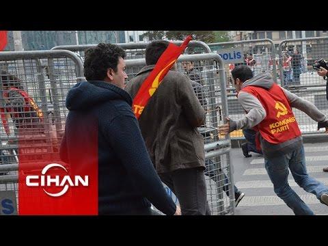 Taksim'de TKP'lilere müdahale