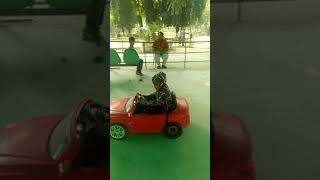 Kids car Driving in Lahore Zoo.