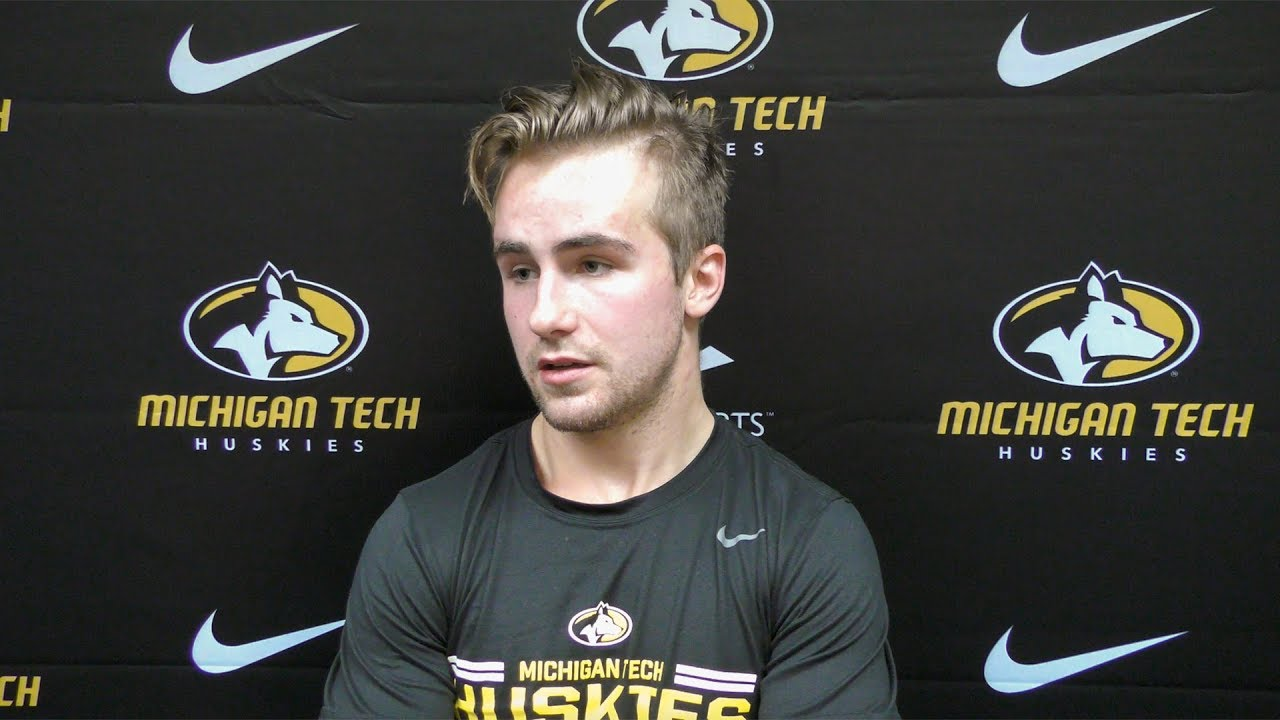 premium selection bc397 fc41a Gavin Gould After Friday's Game Against UMD - Michigan Tech ...