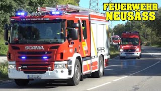 [COMMERCIAL FIRE] - NEUSÄSS FIRE | 9 Fire Stations responding to fire drill!
