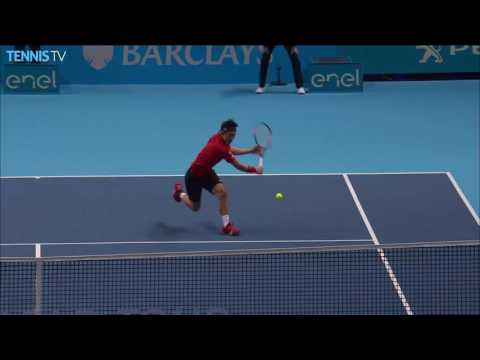 Incredible Andy Murray set-point save v Nishikori at 2016 Barclays ATP World Tour Finals!